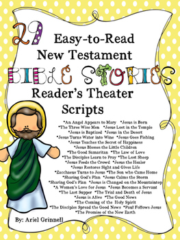 """29 """"Easy-to-Read"""" New Testament Bible Story Reader's Theat"""