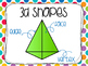 2D & 3D Geometric Shape Posters: School Brights