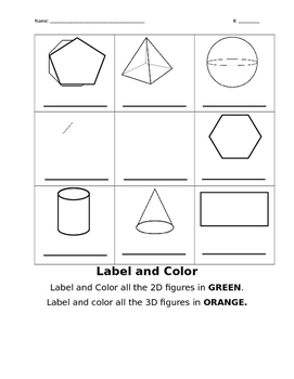 2D/3D  Label and Color