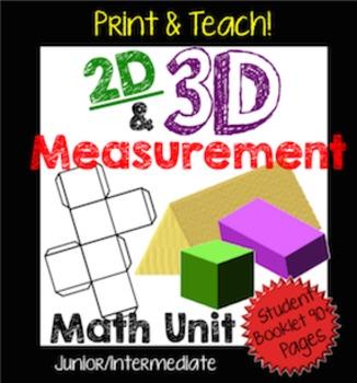 2D & 3D Measurement Unit: Perimeter, Area, Surface Area, a