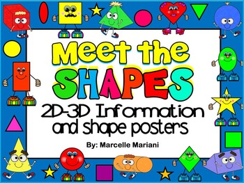 2D-3D SHAPES INFORMATION CARDS & POSTERS
