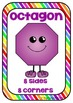 2D & 3D Shape Posters with features ~ rainbow borders