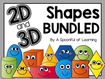 2D & 3D Shapes Galore! (Bundled)