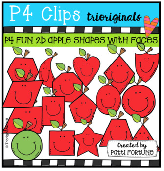 2D Apple Shapes {P4 Clips Trioriginals Digital Clip Art}
