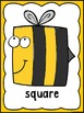 2D Bee Shapes A Predictable Book, Posters, Cards & Roll an