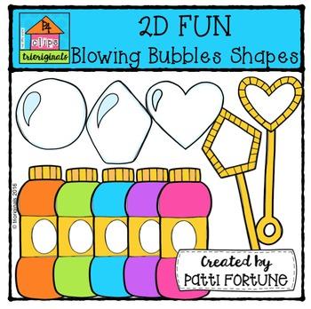 2D FUN Bubble Blowers Shapes {P4 Clips Trioriginals Digita