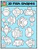 2D Fish Shapes (Fishapes) {P4 Clips Trioriginals Digital C