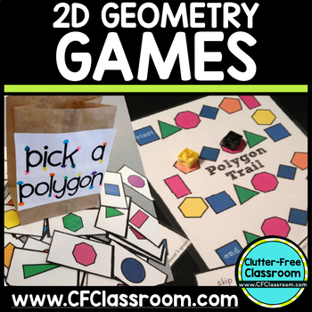 2D Geometry 2 Game Packet: Common Core 3.G.1, 2.G.1, 1.G.1