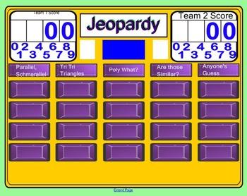 2D Geometry Jeopardy