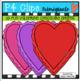 2D Heart Chocolate Shapes {P4 Clips Trioriginals Digital C