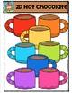 2D Hot Chocolate Shapes  {P4 Clips Trioriginals Digital Clip Art}