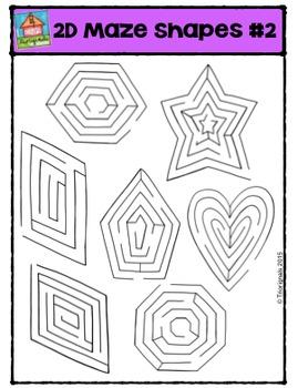 2D Mazes Shapes #2  {P4 Clips Trioriginals Digital Clip Art}