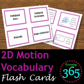 2D Motion Vocabulary Flash Cards