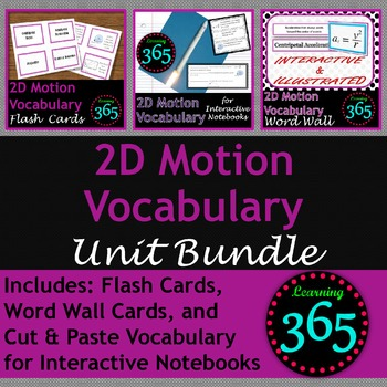 2D Motion Vocabulary Unit Bundle