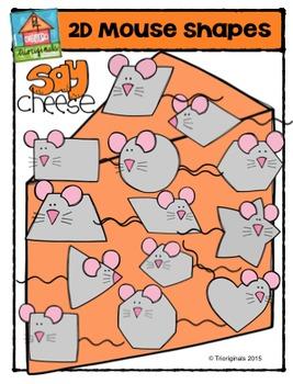 2D Mouse Shapes {P4 Clips Trioriginals Digital Clip Art}