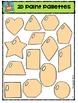 2D Paint Pallet Shapes  {P4 Clips Trioriginals Digital Clip Art}
