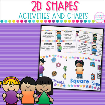 2D Shapes -Anchor Charts, Matching Game and Shape Book