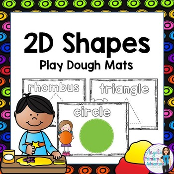 2D Shapes  Play Dough Cards