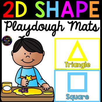 2D Shape Playdough Mats
