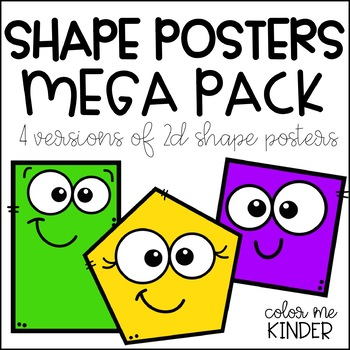2D Shape Posters Mega Pack (4 Versions Included)