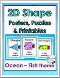2D Shape Posters – Ocean Theme