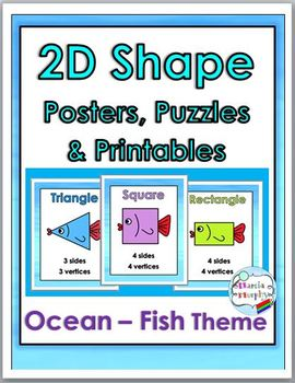2D Shape Posters – Ocean Theme ~ Geometry Vocabulary - Geo