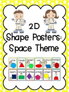 2D Shape Posters: Space Kids Theme