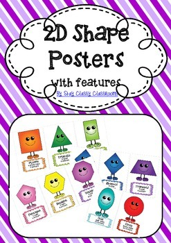 2D Shape Posters with features