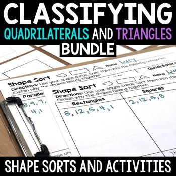 2D Shape Sort Bundle: Quadrilaterals and Triangles