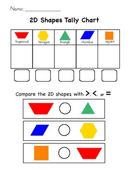 2D Shape Tally and Comparison