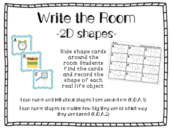 2D Shapes Around the Room