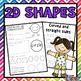 2D Shapes Bundle: Worksheets, Posters, Playdough Mats