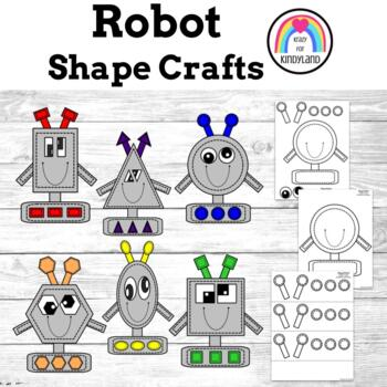2D Shapes Craft Pack: Robots: Circle,Oval,Square,Rectangle