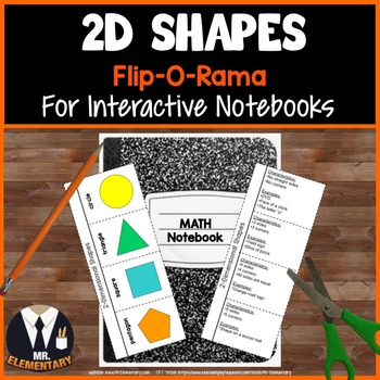 2D Shapes Vocabulary Interactive Notebook