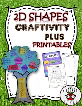 2D Shapes Craftivity + Printables + Poster