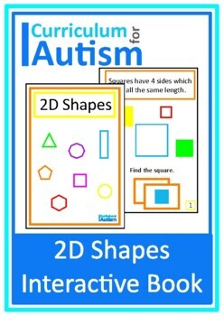 2D Shapes Interactive Adapted Math Book, Special Education