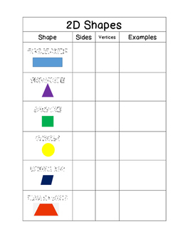 2D Shapes Interactive Notebook