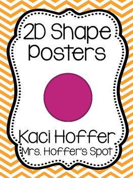 2D Shapes Poster {Chevron}