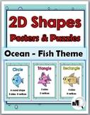2D Shapes Posters – Ocean Theme