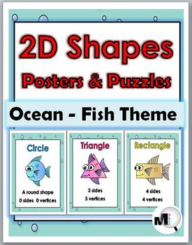 2D Shapes Posters – Ocean Theme