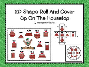 2D Shapes Roll And Cover -Up On The Housetop