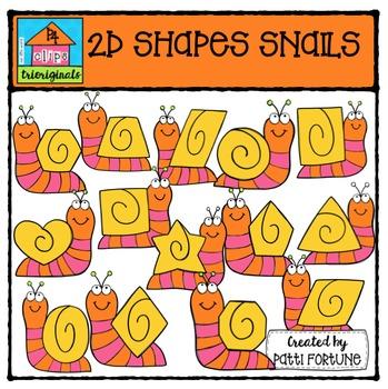 2D Shapes Snails {P4 Clips Trioriginals Digital Clipart}