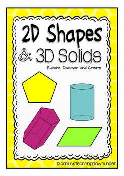 2D Shapes and 3D Solids Activity Pack