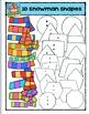 2D Snowmen Shapes {P4 Clips Trioriginals Digital Clip Art}