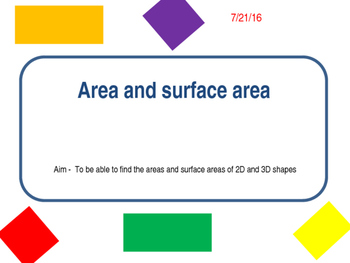 2D and 3D Areas diffentiation