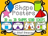 Shape Posters 2D and 3D {Solid Colors}