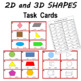 2D and 3D Shape Task Cards