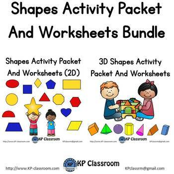2D and 3D Shapes Activity Packet and Worksheet Bundle