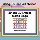 2D and 3D Shapes Mixed Bingo
