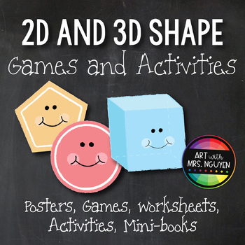 2D and 3D Shapes: Posters, Games, Activities, Mini-Books,